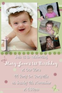 1st birthday invitations