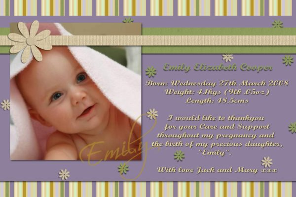 birth announcement cards