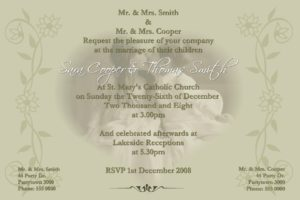 wedding engagement invitations
