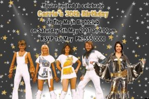 abba invitations