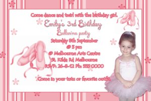 ballerina invitations