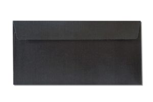 DL black metallic envelopes