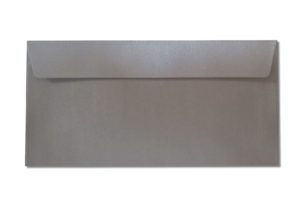 DL silver metallic envelopes