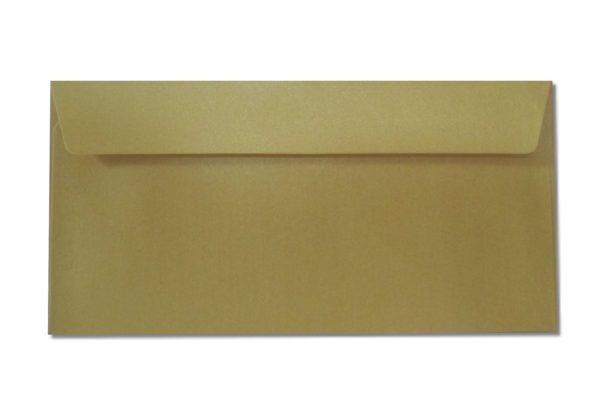 DL gold metallic envelopes