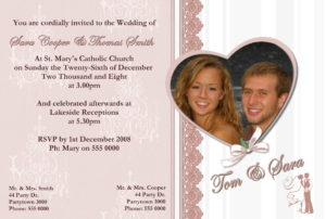 Wedding/Engagement Invitations