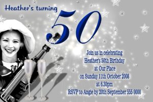 18th 21st 30th 40th 50th 60th Birthday Invitations