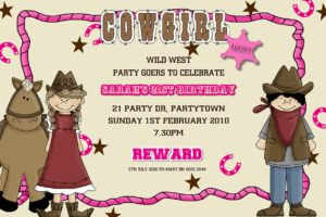 cowgirl invitations