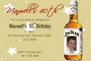 jim beam invitations