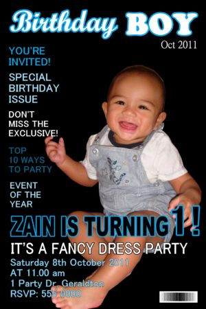 magazine invitations