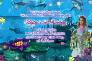 mermaid invitations