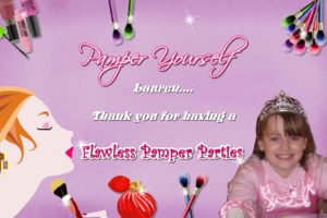Pamper Invitations