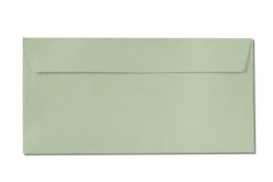 DL pale green envelopes