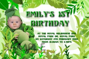 1st birthday invitations pee in a pod