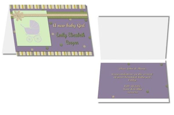 personalised announcement card