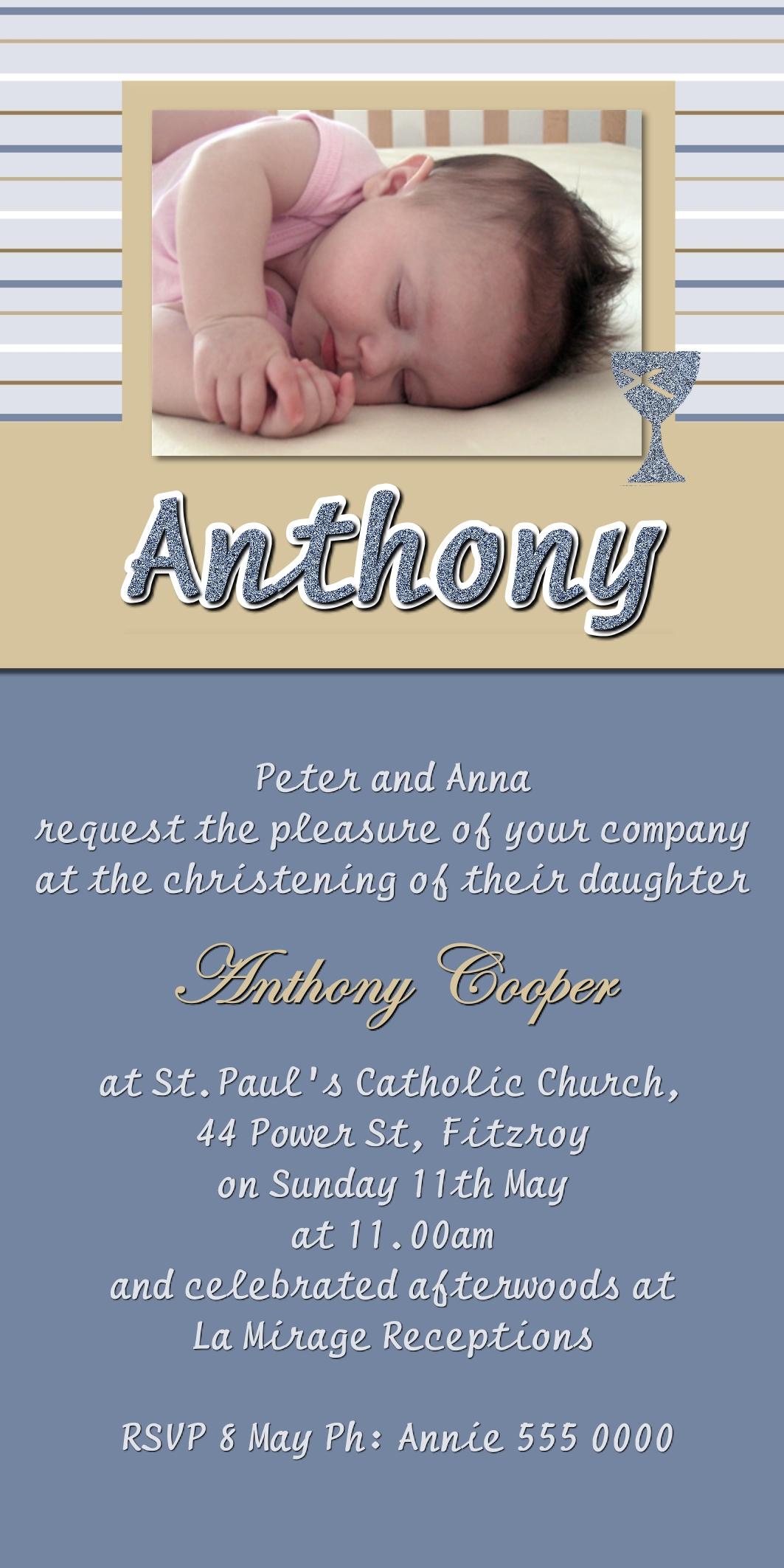 christening invitations
