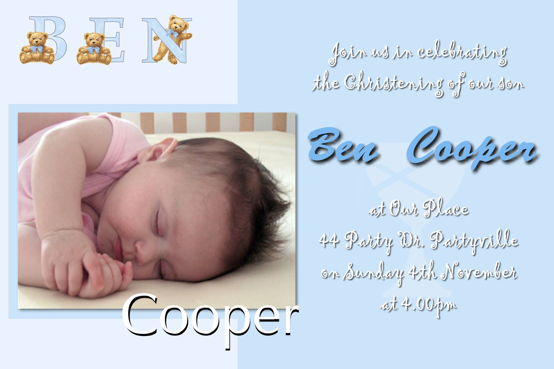christening baptism invitations