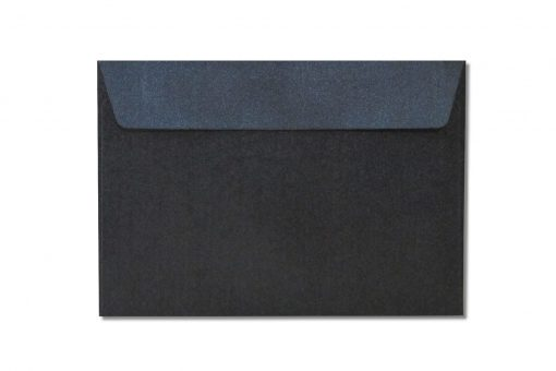 C6 black metallic envelopes