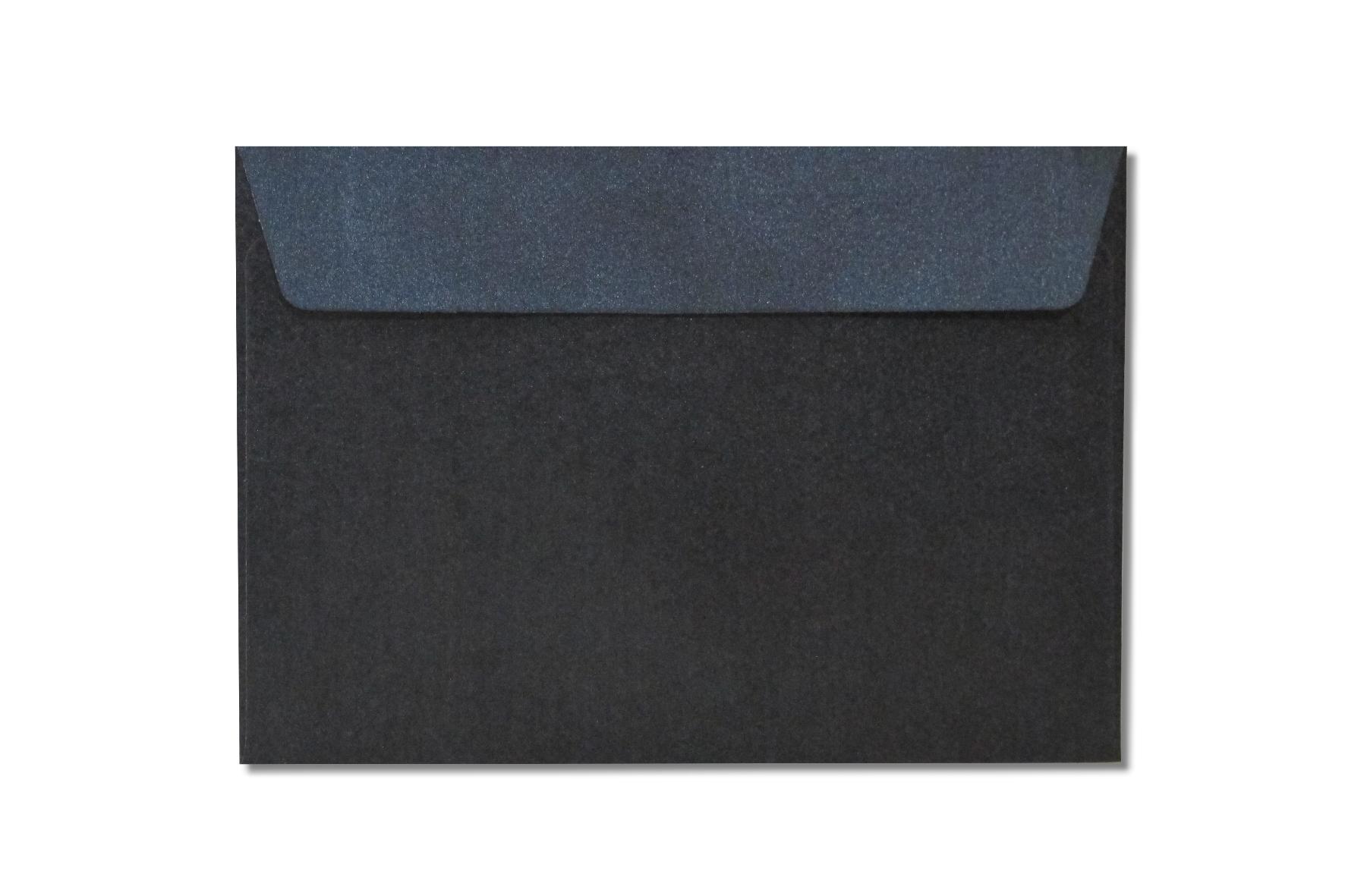 C6 black metallic envelopes