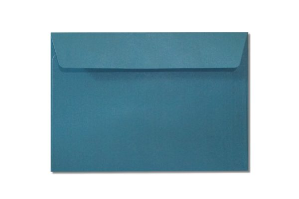 C6 blue metallic envelopes