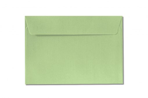 C6 green metallic envelopes