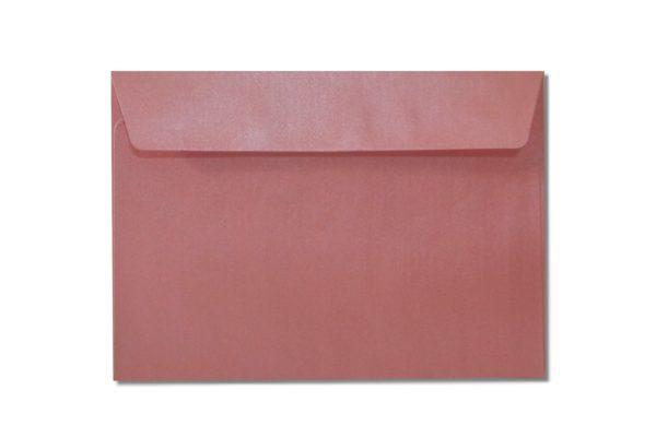 C6 pink metallic envelopes
