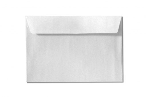 C6 white metallic envelopes