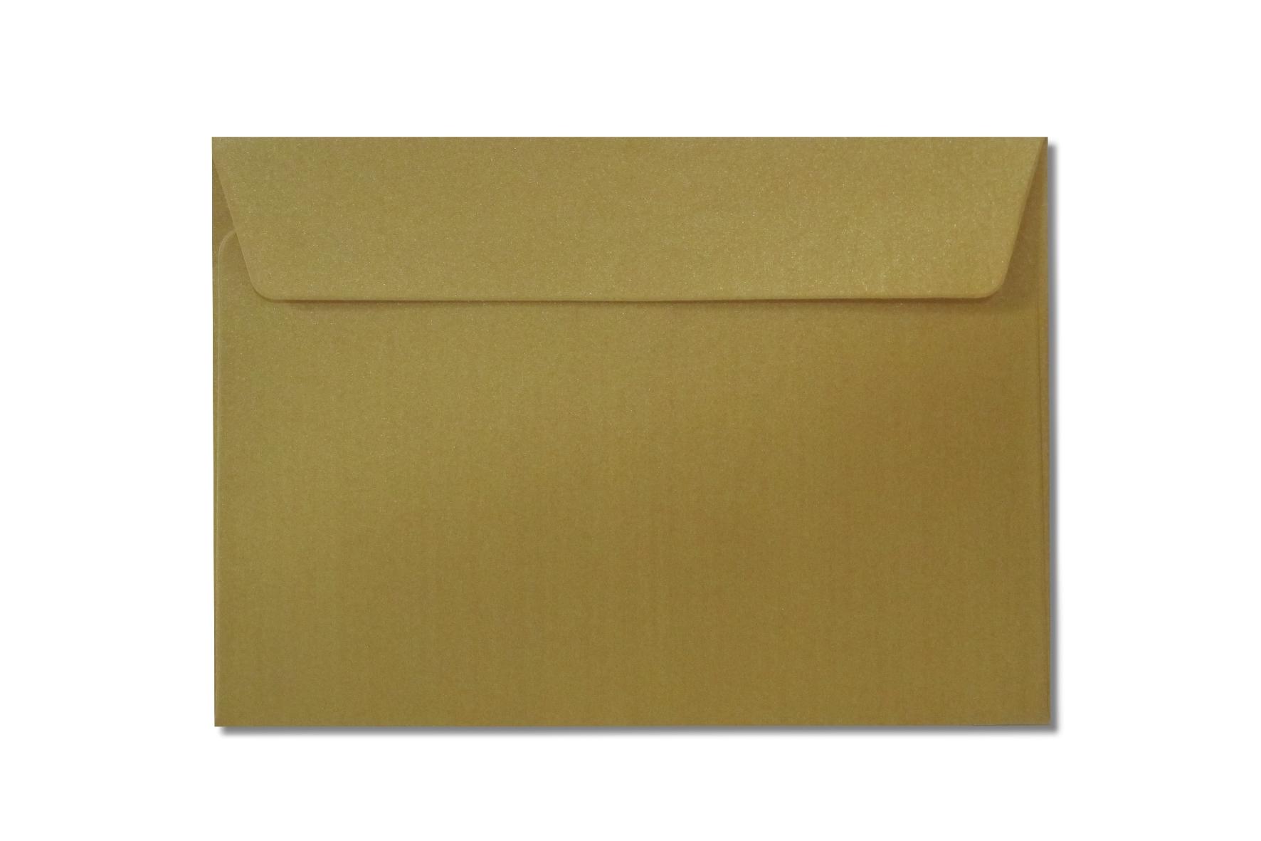C6 gold metallic envelopes