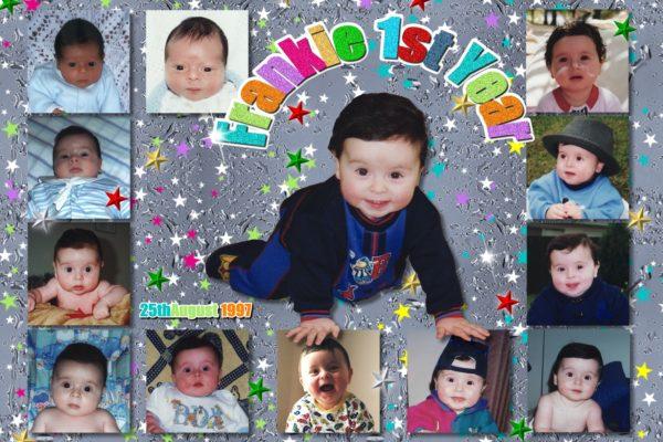 babys 1st year collage