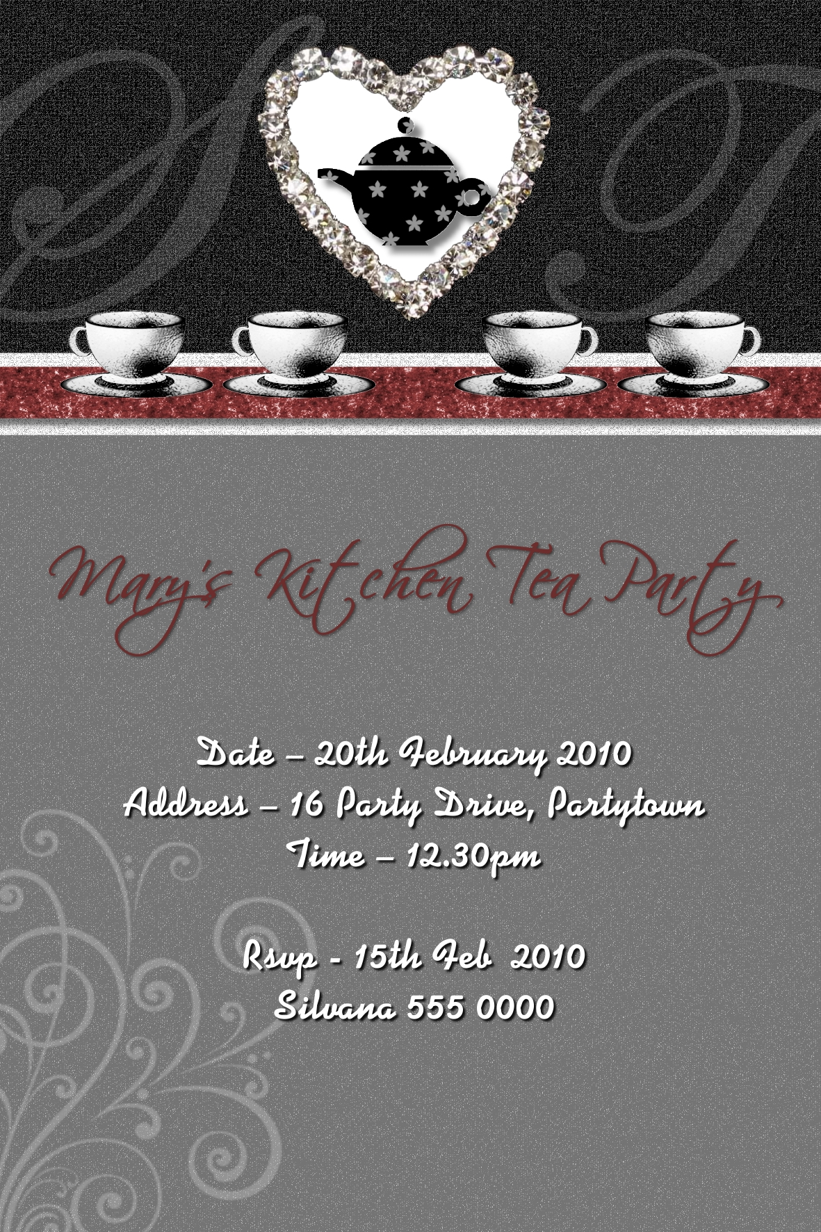 kitchen tea invitations