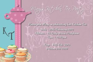 kitchen tea bridal shower invitations