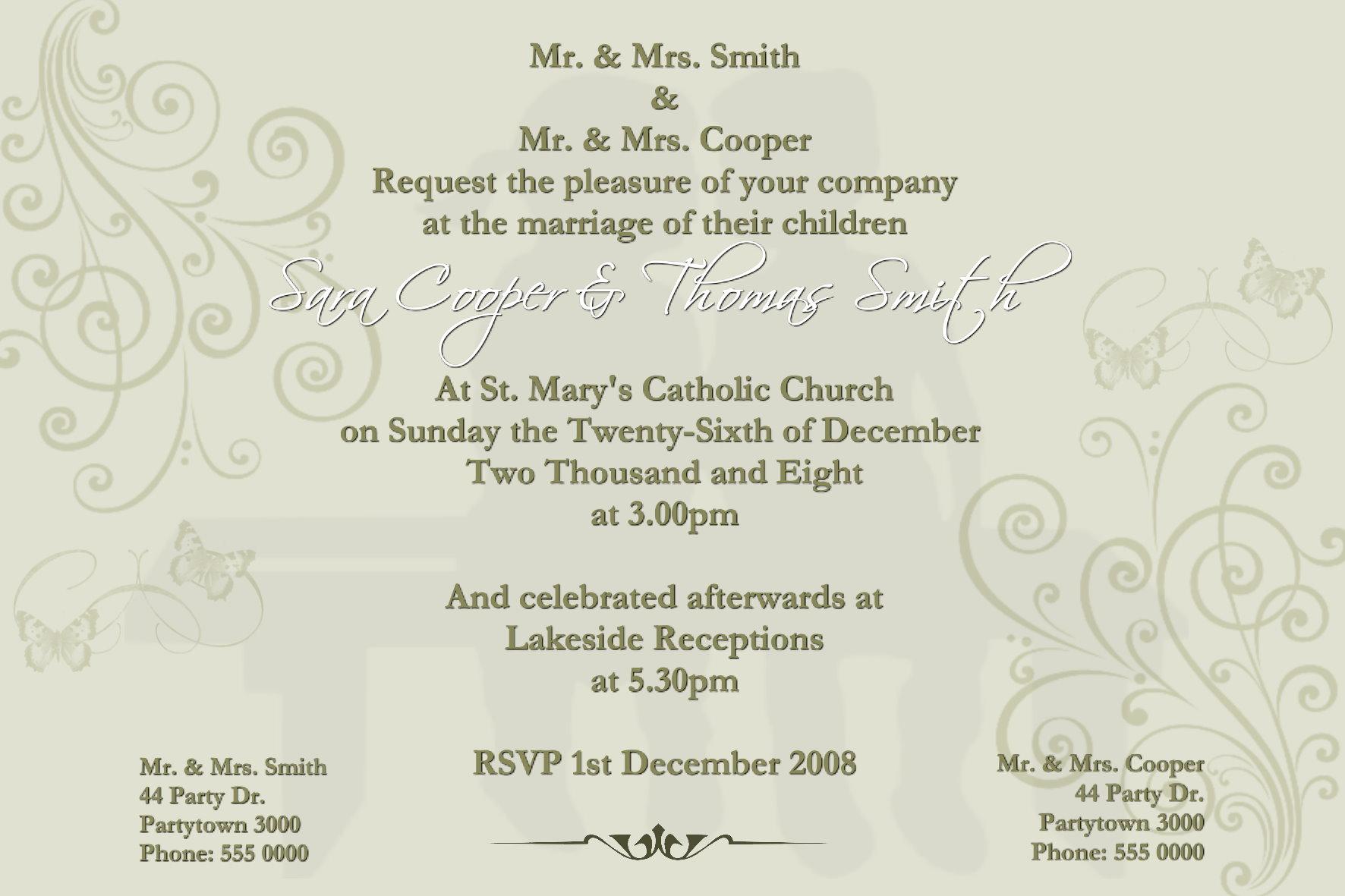 Wedding Engagement Invitations