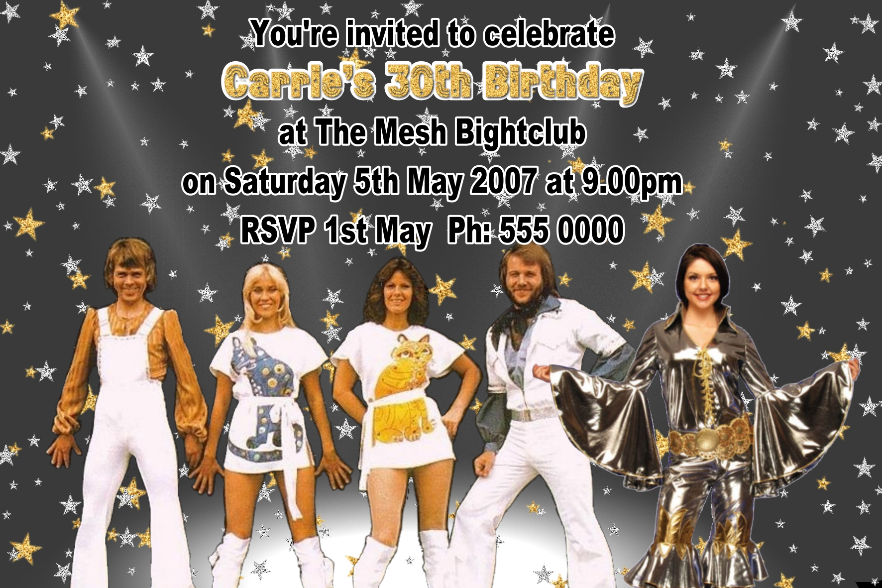 Abba Invitations | Funnyshots Party Invitations
