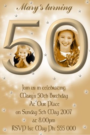 16th 21st 30th 40th 50th 60th 70 80th birthday invitations