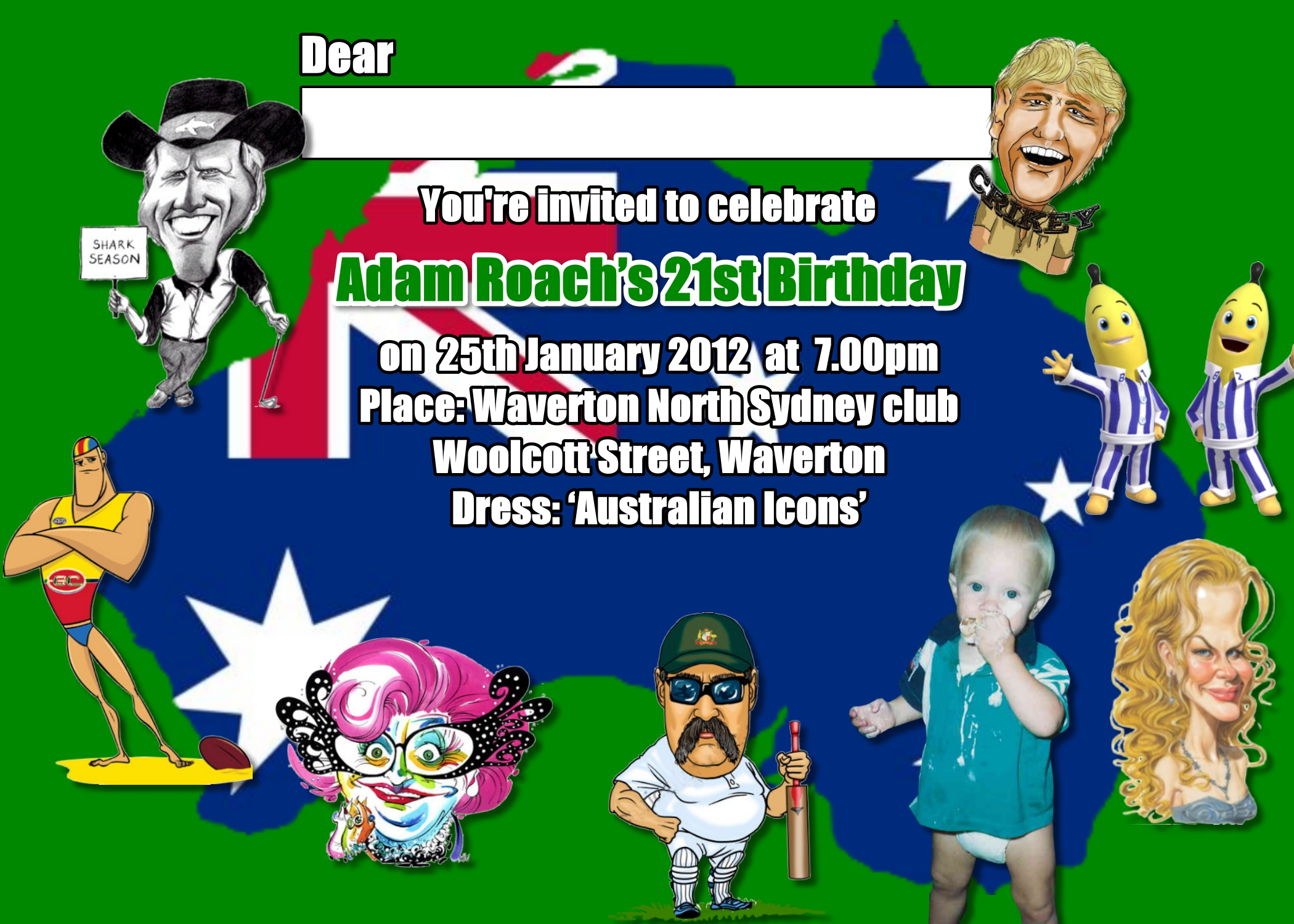 Australia Day Invitations | Funnyshots Party Invitations