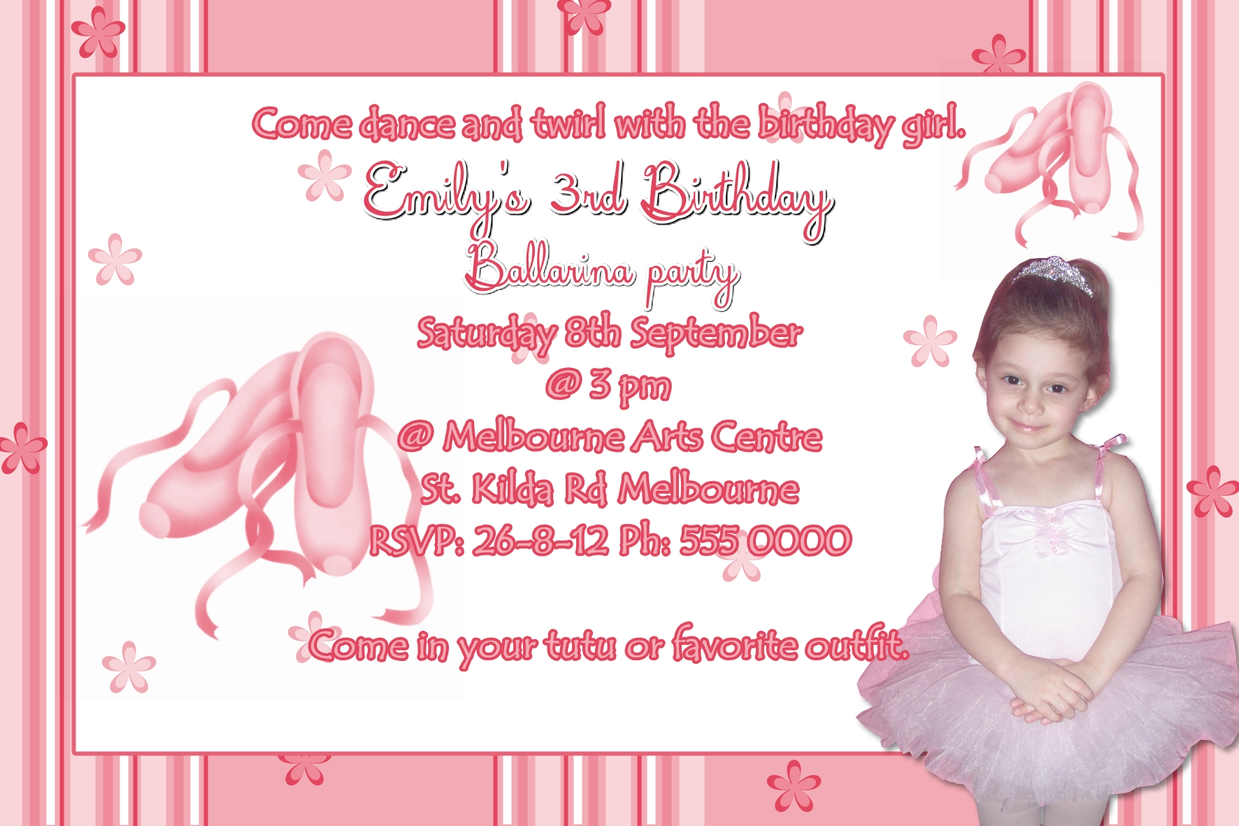 Ballerina Invitations Funnyshots Party Invitations
