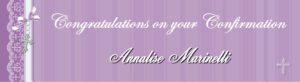 personalised confirmation banners