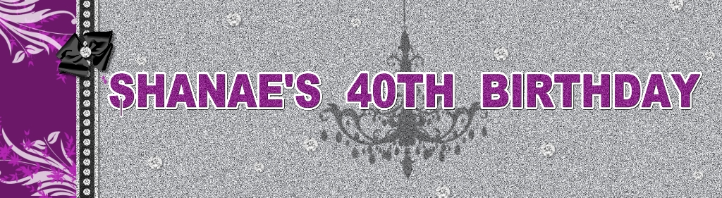 personalised 40th banners