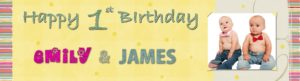 personalised 1st birthday banners