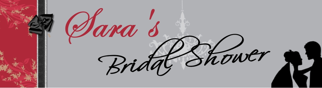 personalised bridal showers banners