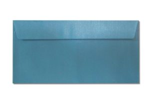 DL blue metallic envelopes
