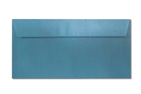DL blue metallic envelopes