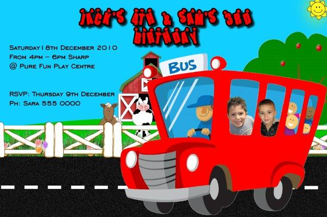 bus invitations