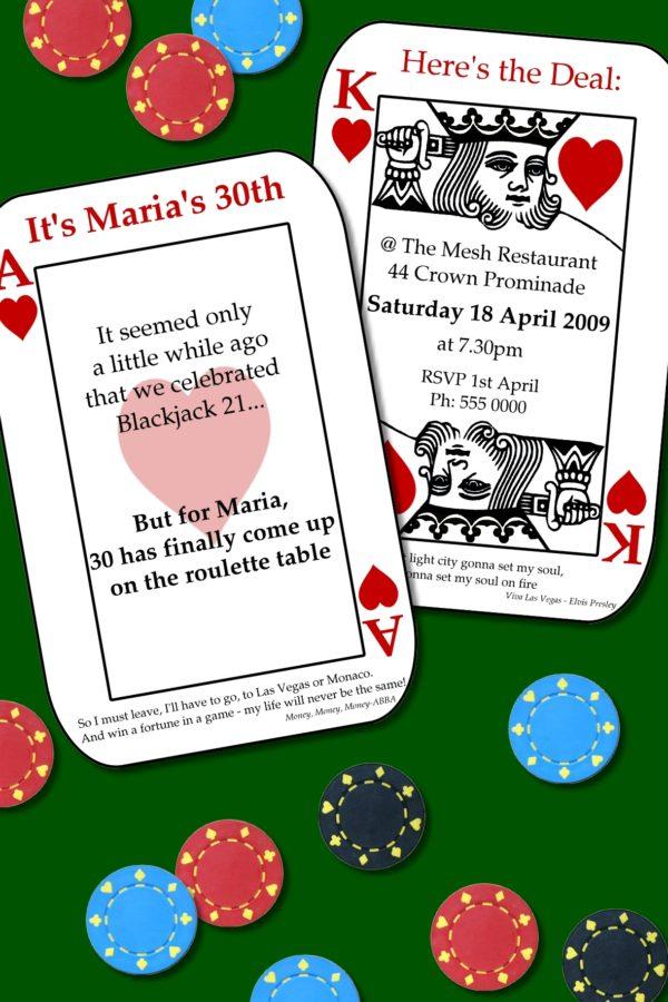 casino invitations