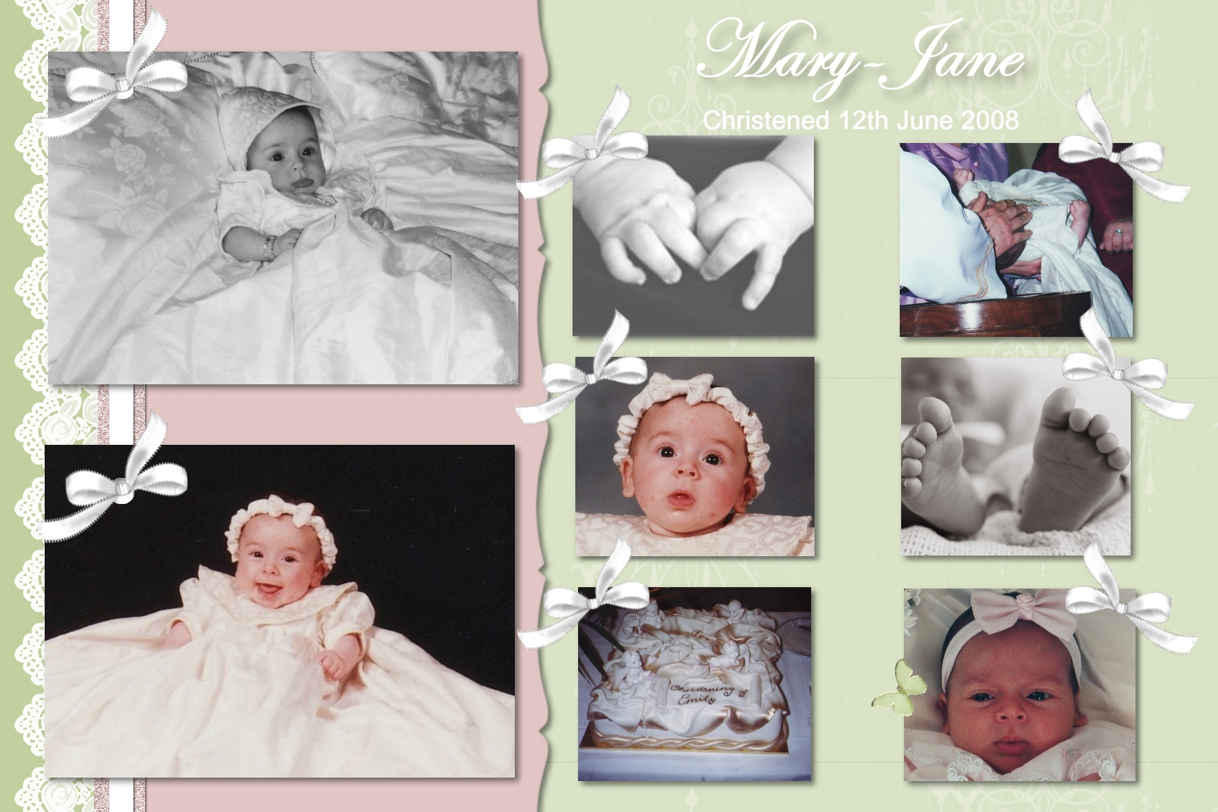 christening collage