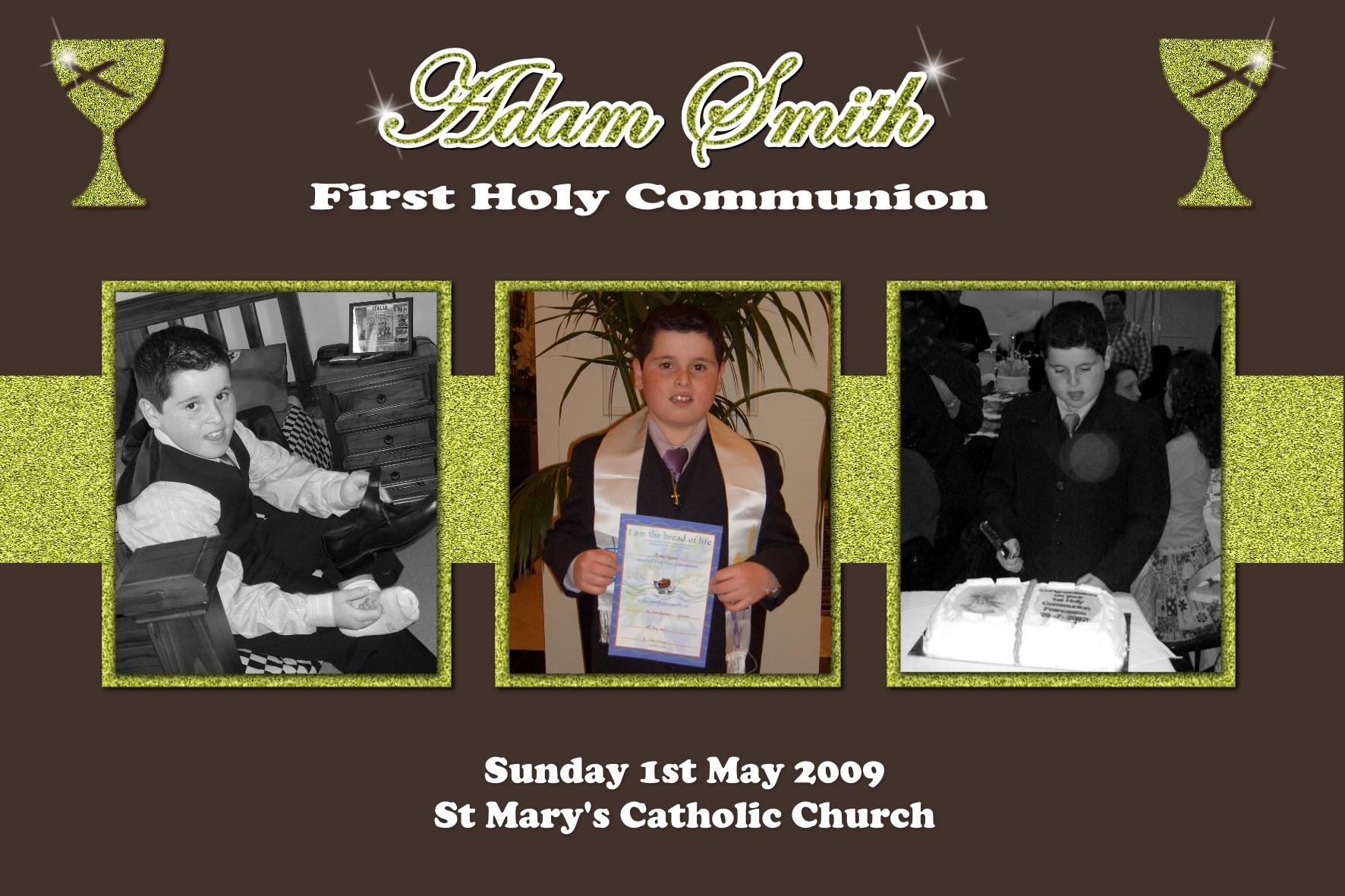 1st communion confirmation collage