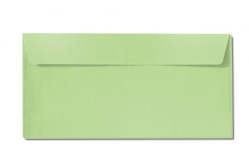 DL green metallic envelopes