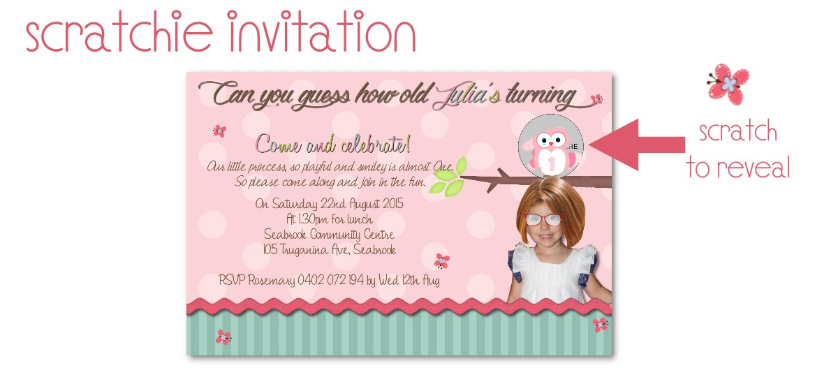scratchie invitation