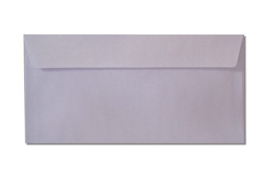 DL white metallic envelopes