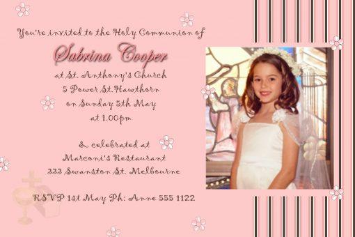 communion confirmatin invitations