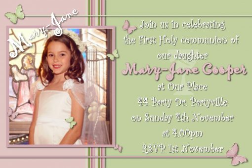 Communion/Confirmation Invitations)